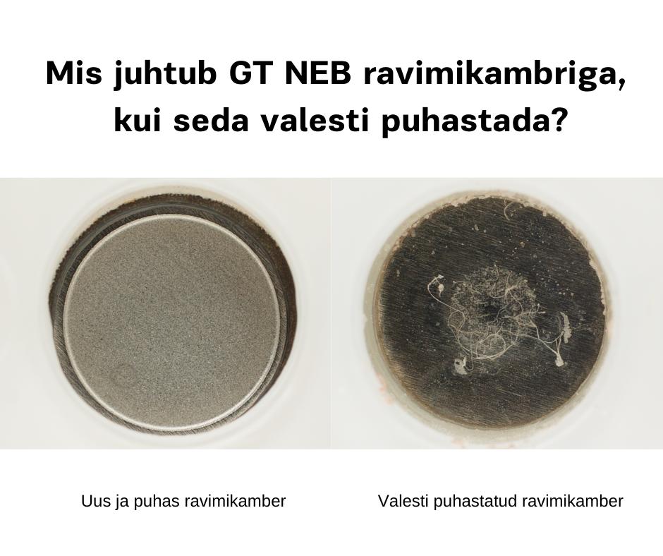 GT NEB  inhalaatori ravimikambri puhastamine