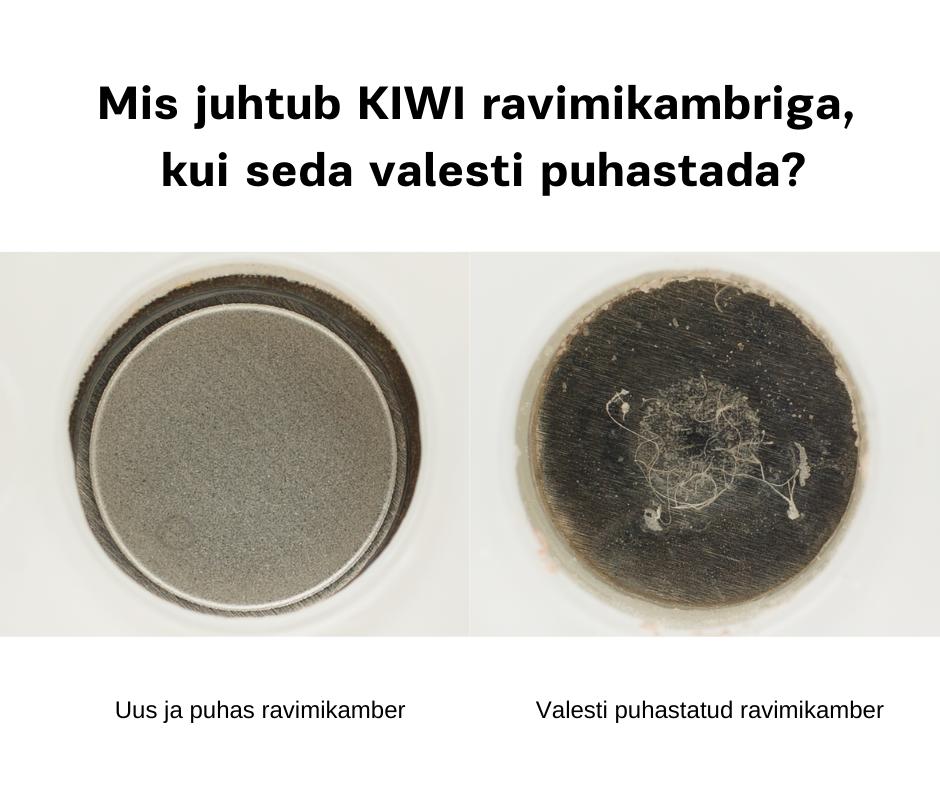 KIWI inhalaatori ravimikambri puhastamine