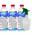 Pindade desinfitseerimisvahend Revosept 1 L (kontsentraat) 3 tk + pihustuspudel